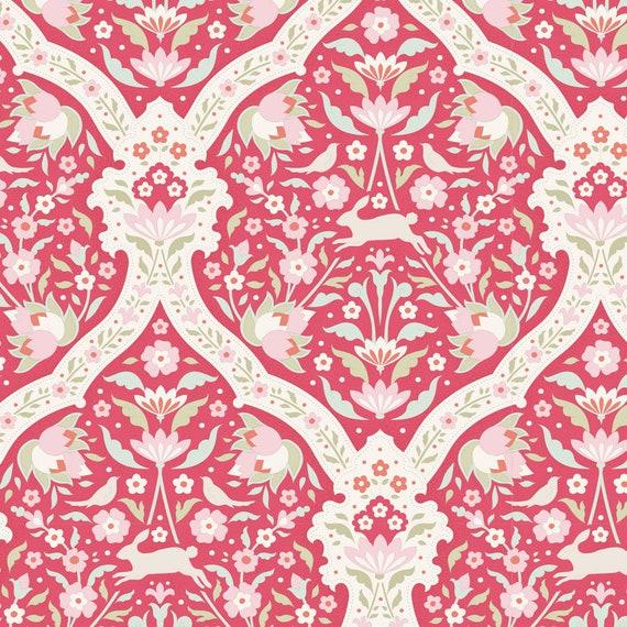 TILDA Bon Voyage - Hare Tile Red 100255 - Fat Quarter