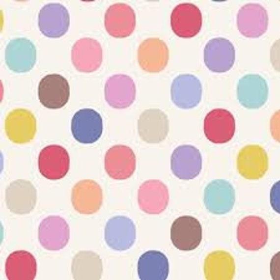 TILDA Plum Dots Dove White - 130059 - Fat Quarter