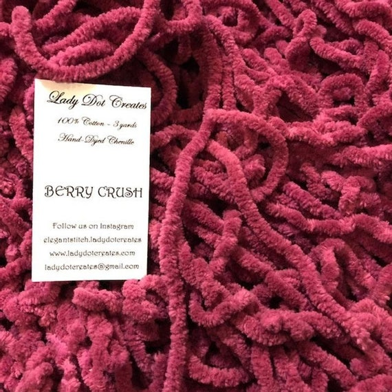 Chenille Trim by Lady Dot Creates - Berry Crush - 3 yds