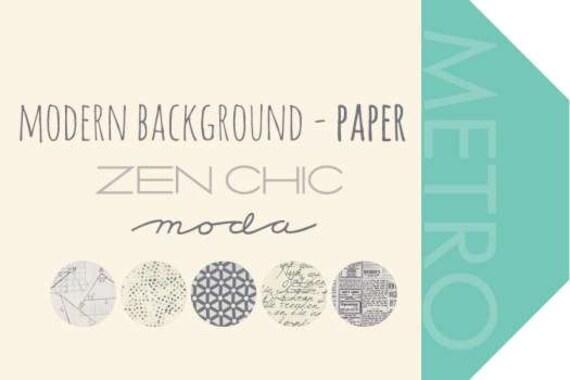 Plus de papier - fonds modernes par Zen Chic - - Chic Layer Cake ada5ed