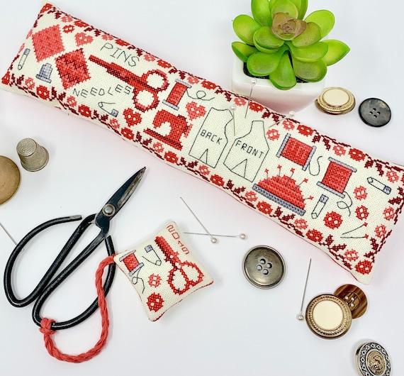 Vintage Sewing Set - Tiny Modernist - Cross Stitch Chart