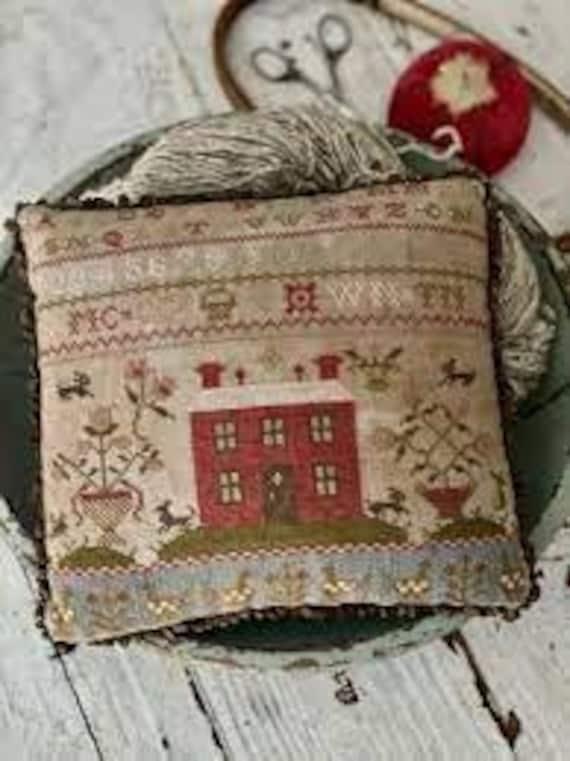 Rose Cottage Sampler Pinkeep - Stacy Nash Primitives - Cross Stitch Chart