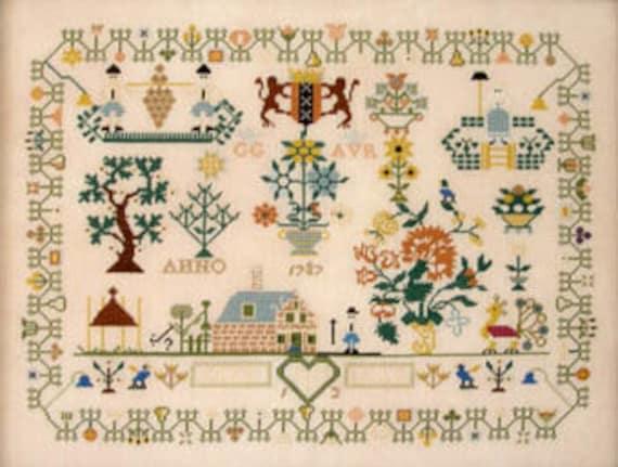 Dutch Sampler 1787 - Queenstown Sampler Designs - Cross Stitch Chart