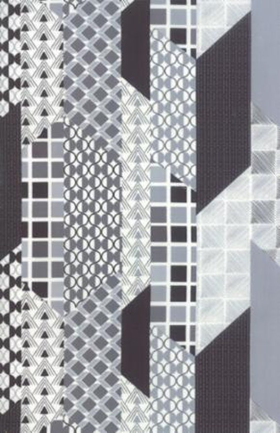 Chic Neutrals Geometric Cheater Gray - 1/2yd
