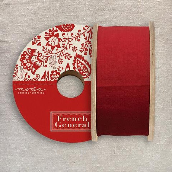 2.25 inch Twill Tape - French General - Red 211911 - 1/2 yd