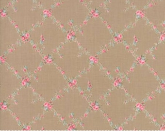 Caroline -  Lattice Tan 1865116 - 1/2yd