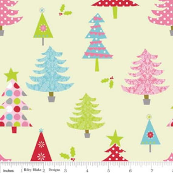 Christmas Trees - Key Lime - 1/2 yard