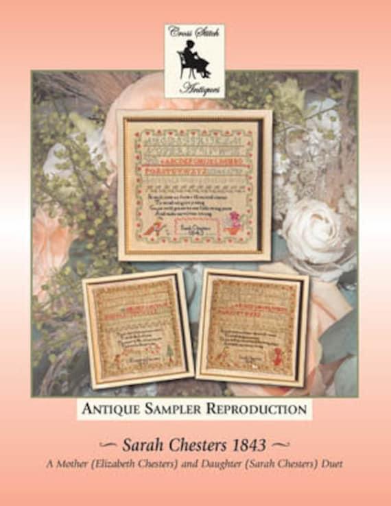 Sarah Chesters 1843 - Cross Stitch Antiques - Cross Stitch Chart