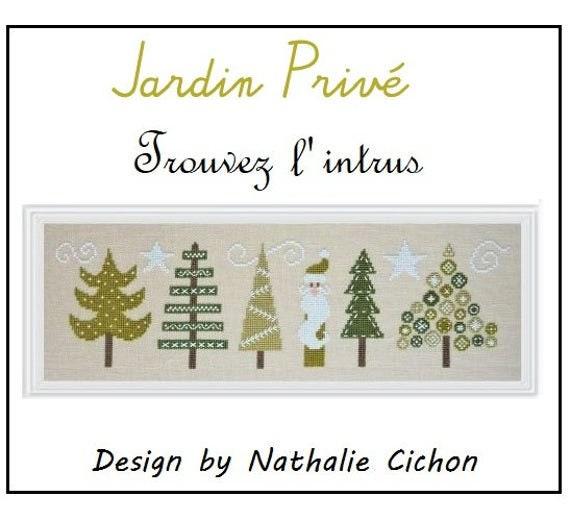 Trouvez l'Intrus - Jardin Prive - Cross Stitch Chart
