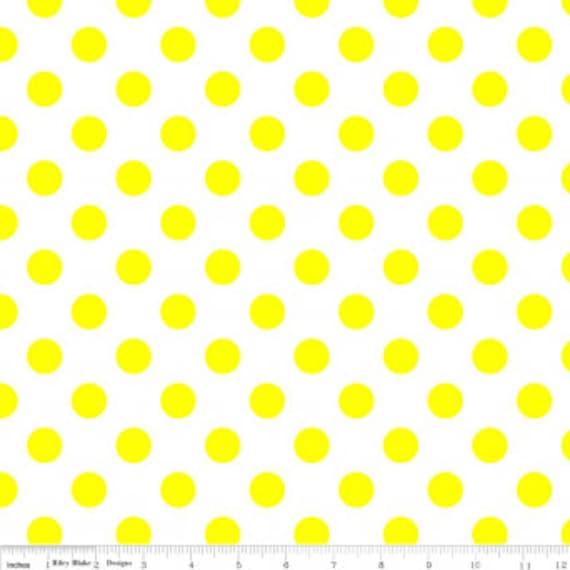 Medium Dot Neon Yellow C490-103 - Riley Blake - 1/2yd