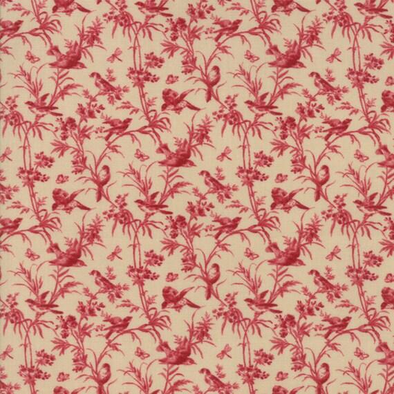 La VIe en Rouge - Joie de Vivre Red Oyster 1382315 - 1/2yd