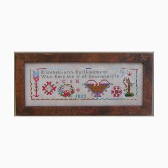 Elizabeth Ann Bartholomew - Queenstown Sampler Designs - Cross Stitch Chart