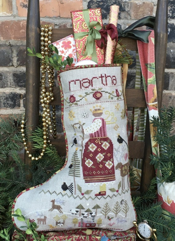 Martha's Stocking with Charms - Shepherd's Bush - Cross Stitch Chart