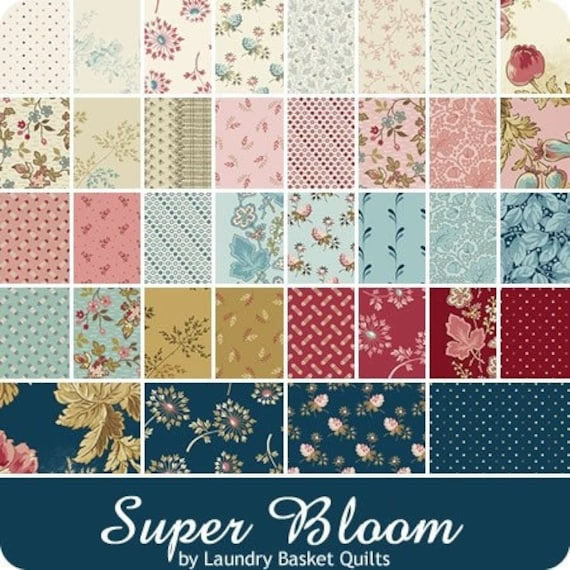 Super Bloom by Laundry Basket Quilts - 36 Fat 8ths Bundle