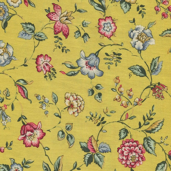Dutch Heritage - Spring Garden 2044 Yellow - 1/2yd