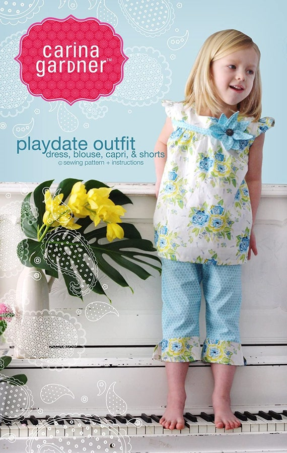 Playdate outfit - Girls Outfit Pattern sizes 2-8
