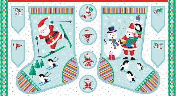 Christmas Stocking Panel 19601 - Fabric Panel