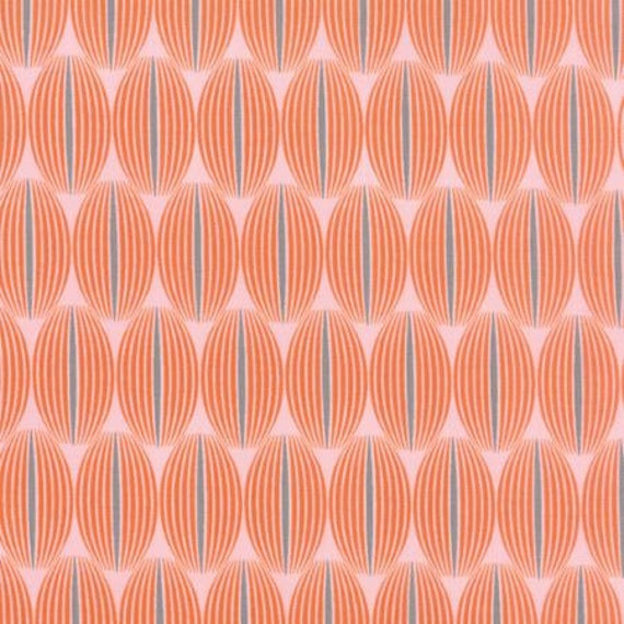 For You Lined Up Orange - 1/2yd