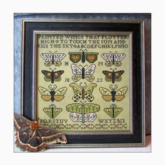 Painted Wings - Carriage House Samplings - Chart and Beads