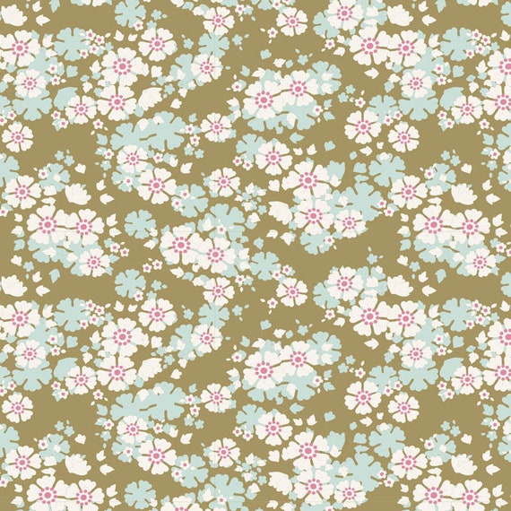 TILDA Woodland - Aster Olive 100297 - Fat Quarter