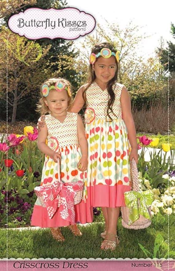 Crisscross Dress - Girls Dress Pattern sizes 6mos-8yrs