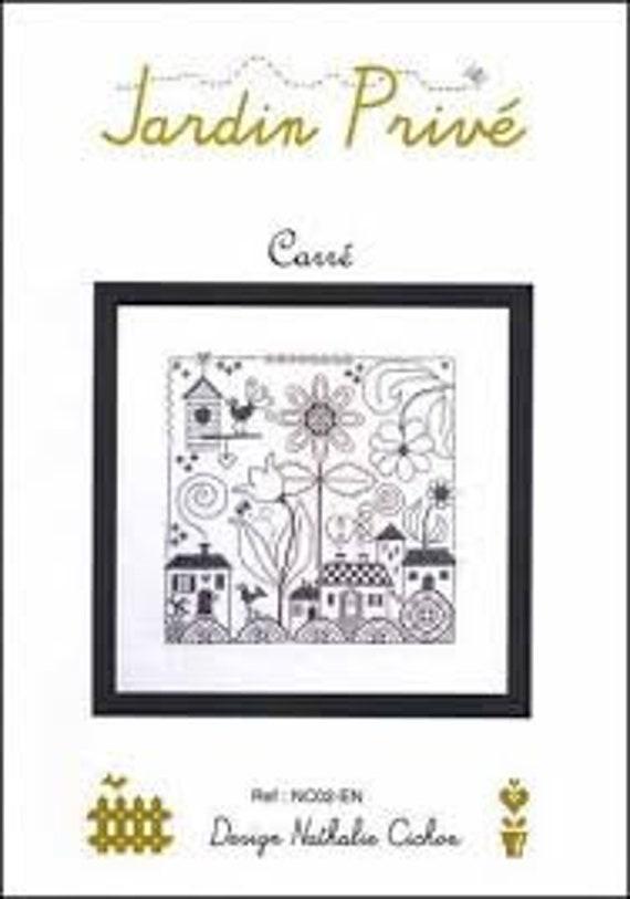 Carre - Jardin Prive - Cross Stitch Chart