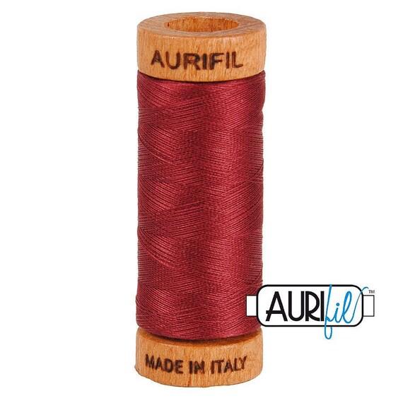 Aurifil 80wt -  Dk Carmine Red 2460