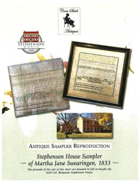 Stephenson House of Martha Jane Swearingen - Cross Stitch Antiques - Cross Stitch Chart