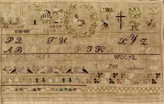 1840 Biedermeier Sampler - NeedleWorkPress - Cross Stitch Chart