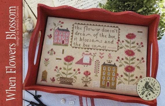 When Flowers Blossom - Brenda Gervais - Cross Stitch Chart