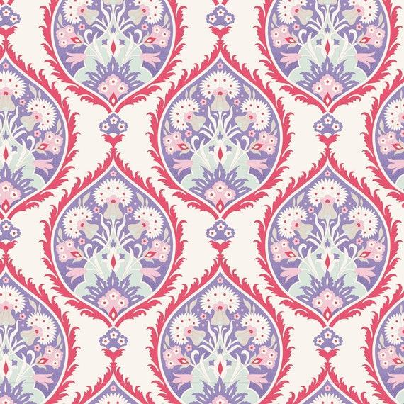TILDA Bon Voyage - Flowerleaf Blue 100242 - Fat Quarter
