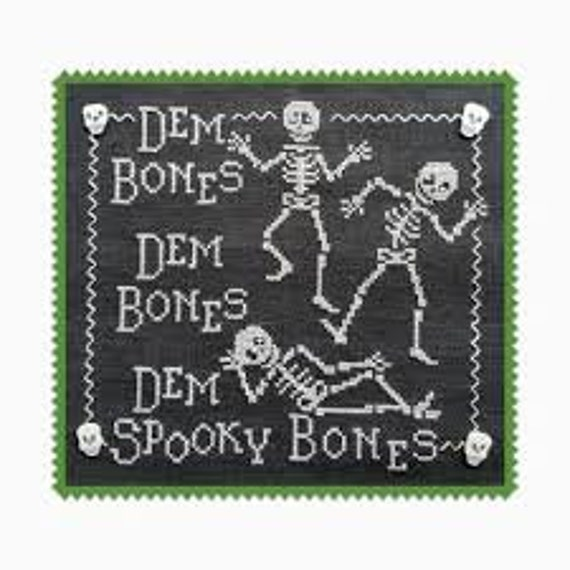 Dem Bones - Waxing Moon Designs - Cross Stitch Chart