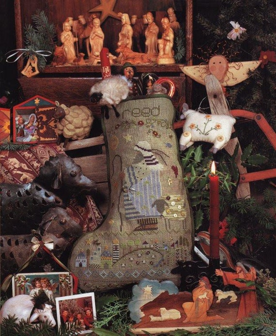 Reed's Stocking with Charms - Shepherd's Bush - Cross Stitch Chart