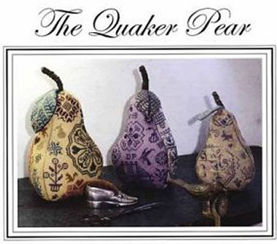 The Quaker Pear - Amaryllis Artworks - Cross stitch chart