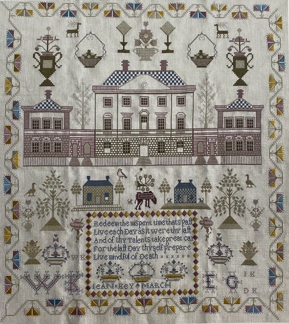 Jean Key c.1798 Scottish Sampler - Gentle Pursuit Designs - Cross Stitch Chart