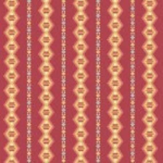 Cloverdale House Diamondstripe Red 7968YR - 1/2yd