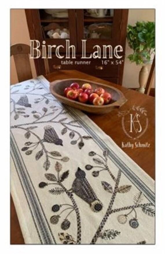 Birch Lane  Table Runner Pattern by Kathy Schmitz