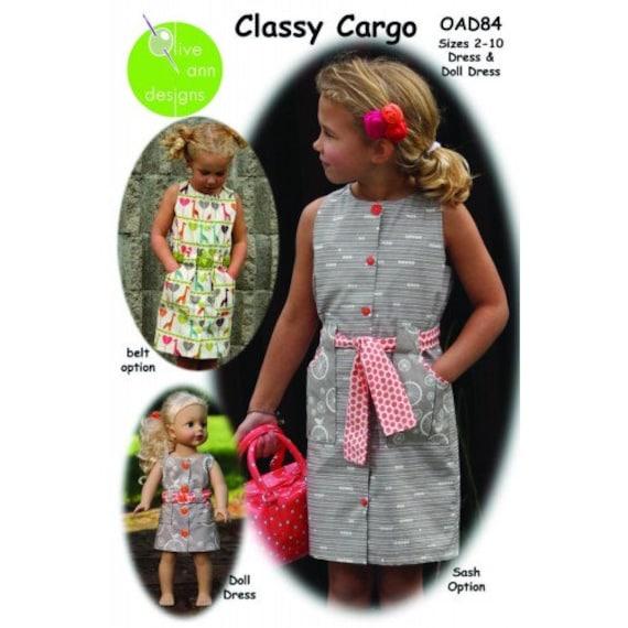 Classy Cargo - Girls Dress Pattern sizes 2-10