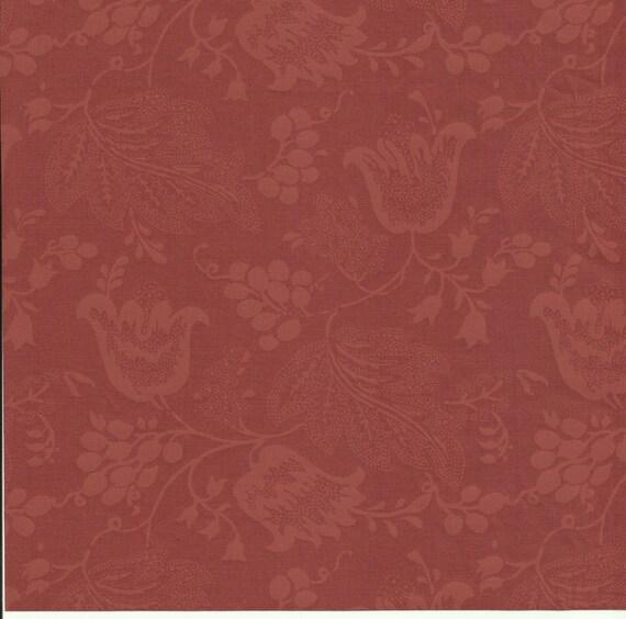 Dutch Chintz - Russet Brown - Ton sur Ton 1/2 yd