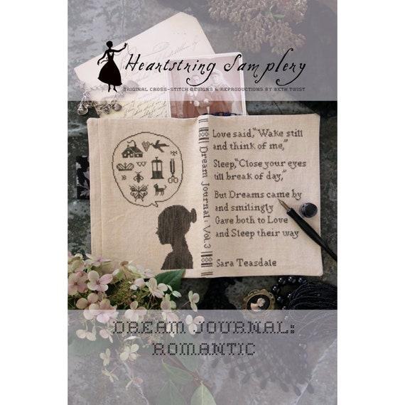 Dream Journal: Romantic - Heartstring Samplery - Cross Stitch Chart