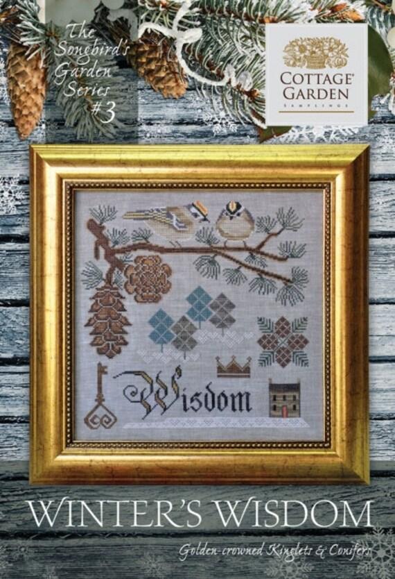 Winter's Wisdom - Songbird's Garden #3 - Cottage Garden Samplings - Cross Stitch Chart