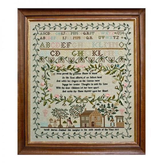 Sarah Borton 1815 - Hands Across the Sea Samplers - Paper Chart