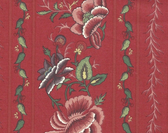 Dutch Chintz Border - Oberkampf Madder Red Border