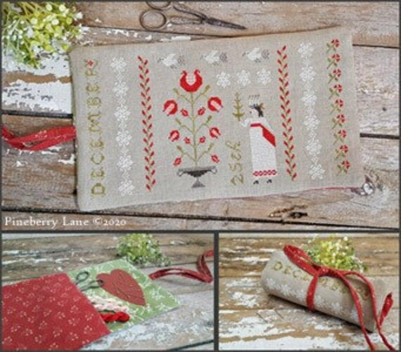 Christmastime Sewing Roll - Pineberry Lane - Cross Stitch Chart