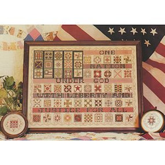 American Flag Quilt Sampler - Rosewood Manor - Cross Stitch Chart