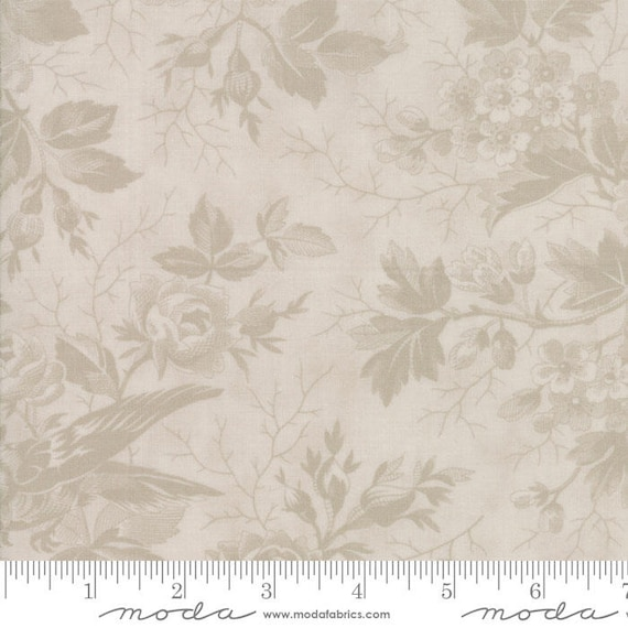 Quill - Bird Toile Tonal Parchment 4415131 - 1/2yd