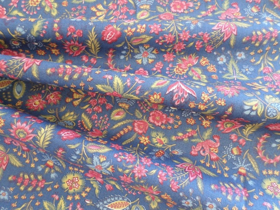 Dutch Chintz - Les Petits Bouquets BLUE 1/2 yd