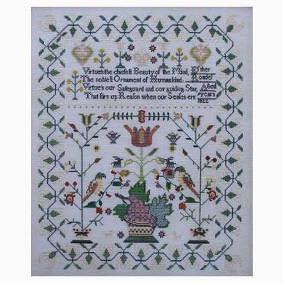 Esther Rondel 1822 - Queenstown Sampler Designs - Cross Stitch Chart