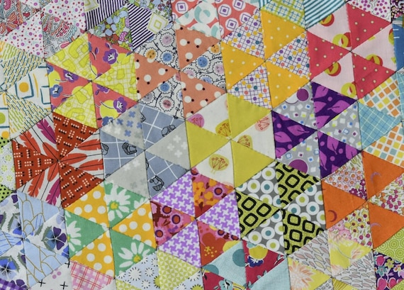 Postcard Project #15 - 60 Degree Equilateral Triangle by Jen Kingwell - Pattern and Template