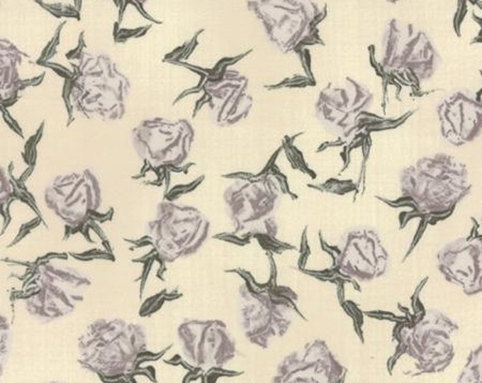 Wordsmith Floral Roses Natural - 1/2yd